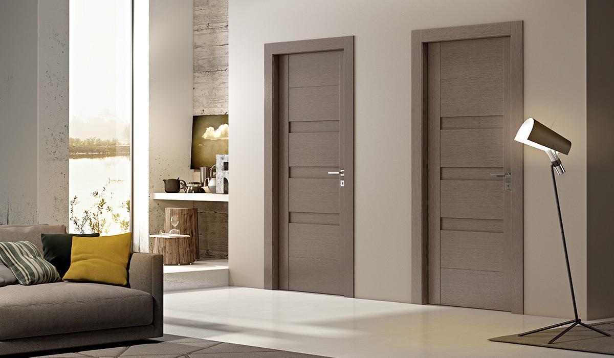 Porte interne color tortora pannelli termoisolanti - Verniciatura pareti interne casa ...