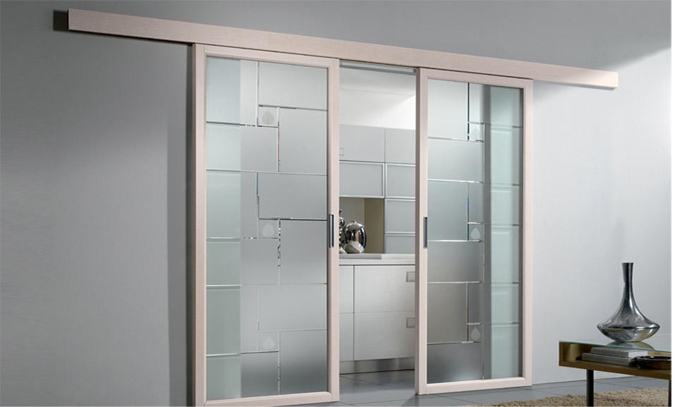 Porte interne erre effe - Porte interne in vetro scorrevoli ...